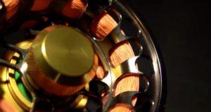 Moulinet rempli d'une soie de couleur orange